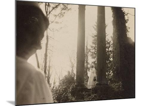 WWI: Visit the Marquise in the Role of Red Cross Nurse to the Ruins of a Temple--Mounted Photographic Print