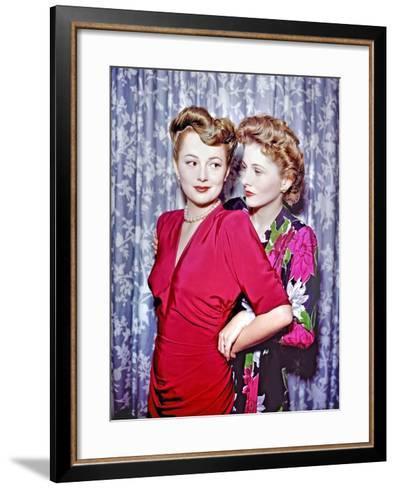 Joan Fontaine, Olivia De Havilland--Framed Art Print