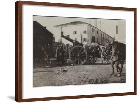 War Campaign 1917-1920: Cannon in a Square in Gorizia--Framed Art Print