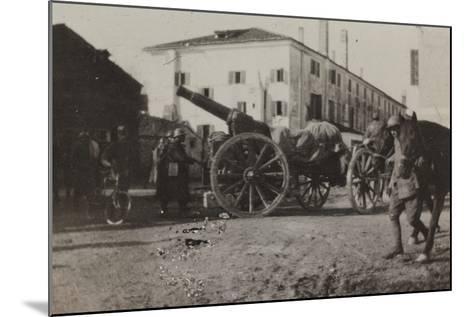 War Campaign 1917-1920: Cannon in a Square in Gorizia--Mounted Photographic Print