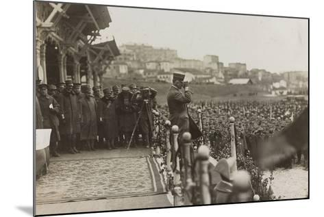War Campaign 1917-1920: Trieste February 19, 1919, Emanuele Filiberto Di Savoia Duca D'Aosta--Mounted Photographic Print