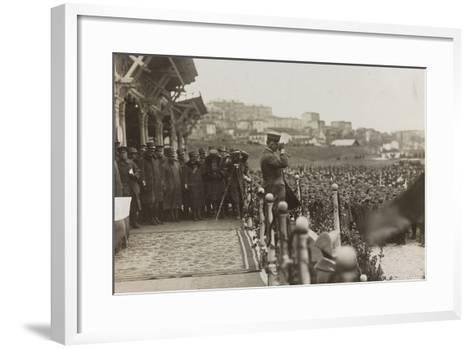 War Campaign 1917-1920: Trieste February 19, 1919, Emanuele Filiberto Di Savoia Duca D'Aosta--Framed Art Print