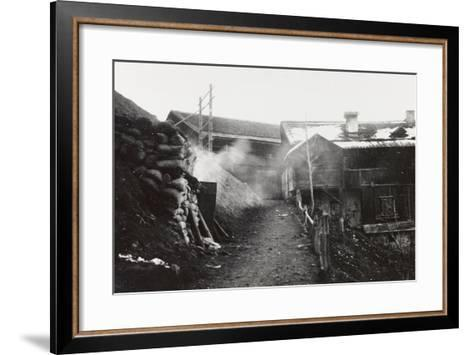 World War I: Armored Shelters on the Col Di Lana--Framed Art Print