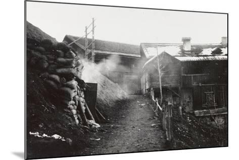 World War I: Armored Shelters on the Col Di Lana--Mounted Photographic Print