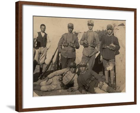 Soldiers of the 26th Infantry Regiment in Uniform War--Framed Art Print