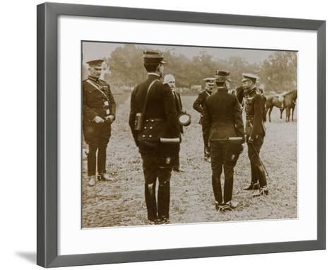 World War I: The British King George V (1865-1936) with a Group of French Officers--Framed Art Print