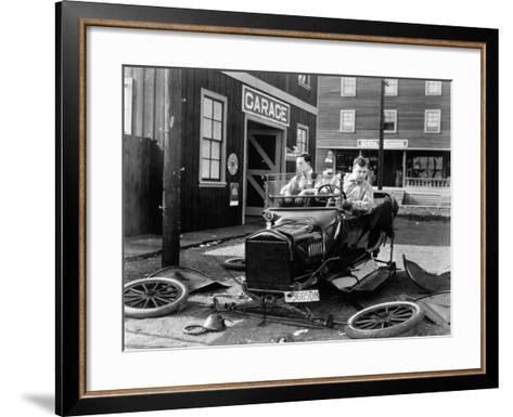 The Garage, 1919--Framed Art Print