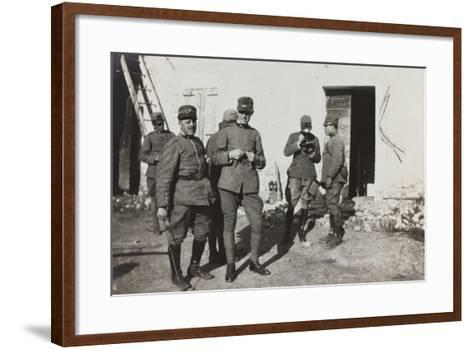 War Campaign 1917-1920: Group of Officers, Cavrie--Framed Art Print