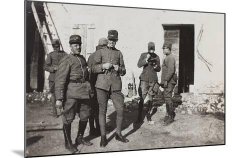 War Campaign 1917-1920: Group of Officers, Cavrie--Mounted Photographic Print
