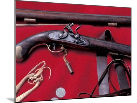 Flintlock Pistol to Be Traded at a Mountain-Man Rendezvous Reenactment, Fort Mandan, North Dakota--Mounted Photographic Print