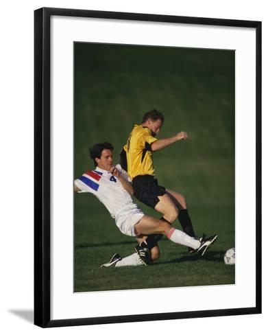Soccer Players in Action--Framed Art Print