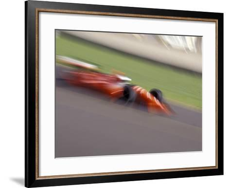 Auto Racing Action--Framed Art Print