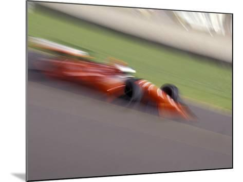 Auto Racing Action--Mounted Photographic Print