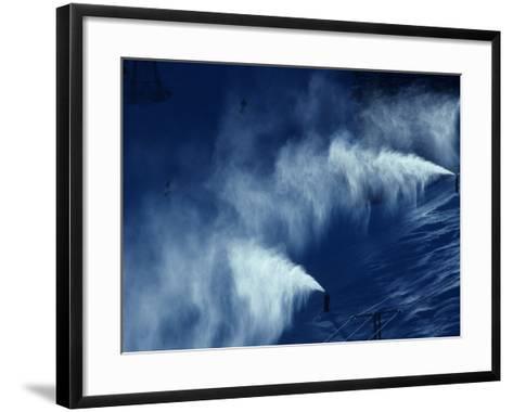 Snow Making Jets Working-Paul Sutton-Framed Art Print