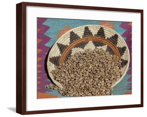 Dried Beans in a Native American Basket--Framed Art Print