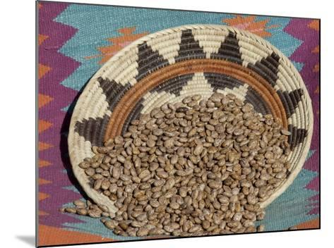 Dried Beans in a Native American Basket--Mounted Photographic Print