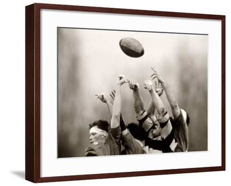 Rugby Player in Action, Paris, France--Framed Art Print