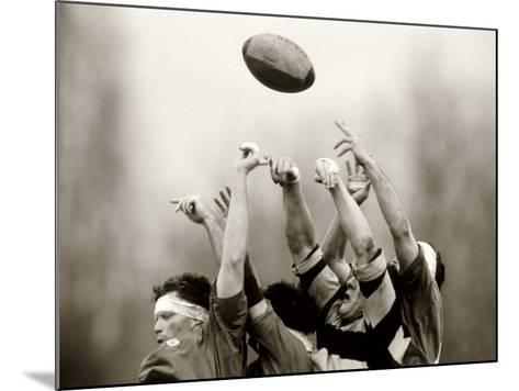 Rugby Player in Action, Paris, France--Mounted Photographic Print