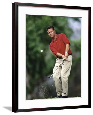 Male Golfer in Action-Chris Trotman-Framed Art Print