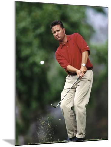 Male Golfer in Action-Chris Trotman-Mounted Photographic Print