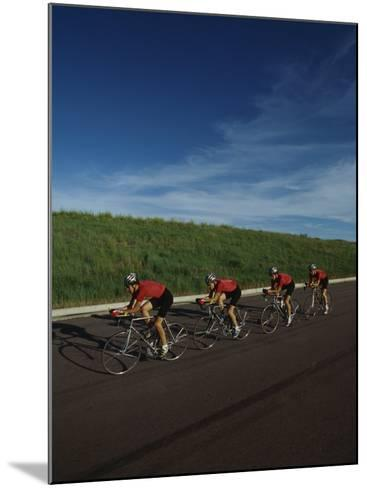 Road Cycling Team in Action--Mounted Photographic Print
