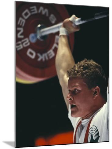 Weightlifter in Action--Mounted Photographic Print
