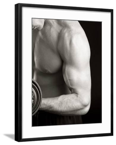 Man Working Out with Hand Wieghts, New York, New York, USA-Chris Trotman-Framed Art Print