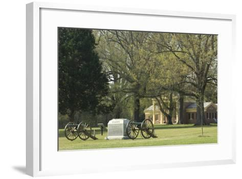Monument to Illinois Soldiers in Front of the Visitor Center, Shiloh, Tennessee--Framed Art Print