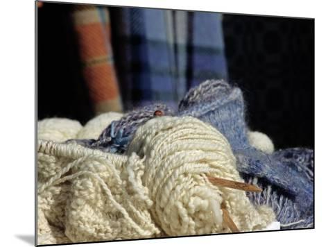 Knitting Needles and Handspun Wool at a Yorktown Reenactment, Virginia--Mounted Photographic Print