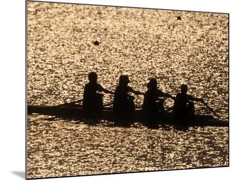 Silhouette of Women's Fours Rowing Team, Atlanta, Georgia, USA--Mounted Photographic Print