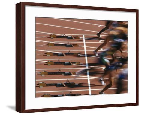 Detail of Start of Womens 100M Race-Steven Sutton-Framed Art Print