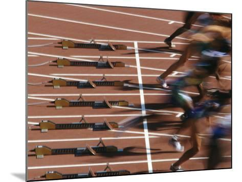 Detail of Start of Womens 100M Race-Steven Sutton-Mounted Photographic Print