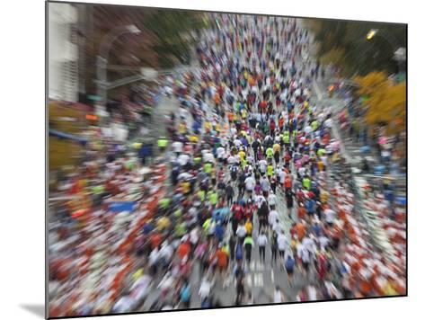 Runners Competing on First Avenue During 2009 New York City Marathon--Mounted Photographic Print