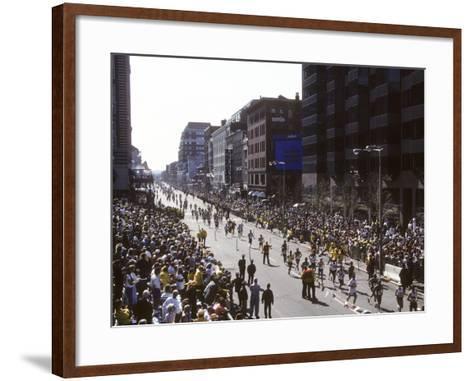 Finishers on Boyleston Street at the 1990 Boston Marathon--Framed Art Print