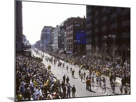 Finishers on Boyleston Street at the 1990 Boston Marathon--Mounted Photographic Print