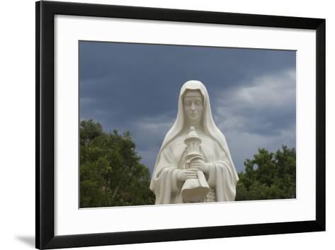 Saint Clare Statue, St. Francis of Assisi Churchyard, Ranchos De Taos, New Mexico--Framed Art Print