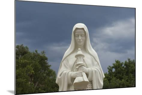 Saint Clare Statue, St. Francis of Assisi Churchyard, Ranchos De Taos, New Mexico--Mounted Photographic Print