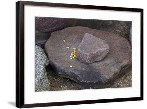 Maize Grinding Stones at Besh-Ba-Gowah Archaeological Park, circa 1225-1400 AD, Arizona--Framed Art Print