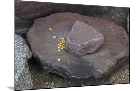 Maize Grinding Stones at Besh-Ba-Gowah Archaeological Park, circa 1225-1400 AD, Arizona--Mounted Photographic Print