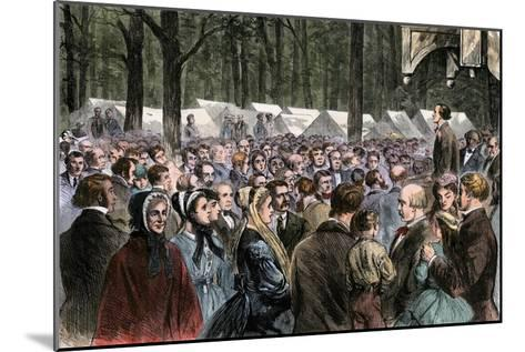 Methodist Camp-Meeting at Sing-Sing, New York, 1868--Mounted Photographic Print
