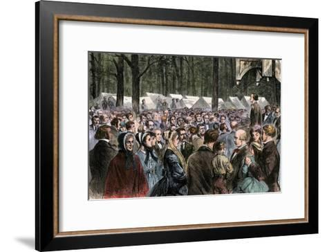 Methodist Camp-Meeting at Sing-Sing, New York, 1868--Framed Art Print