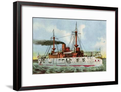 "U.S. Battleship ""Texas,"" Circa 1900--Framed Art Print"