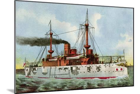 "U.S. Battleship ""Texas,"" Circa 1900--Mounted Photographic Print"
