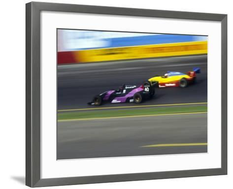 Blurred Auto Racing Action--Framed Art Print