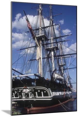 """USS Constitution """"Old Ironsides"""" Docked in Boston--Mounted Photographic Print"""