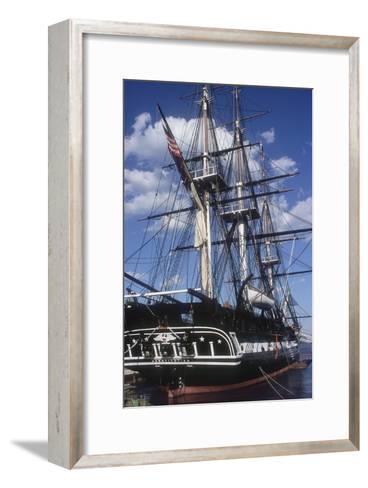 """USS Constitution """"Old Ironsides"""" Docked in Boston--Framed Art Print"""