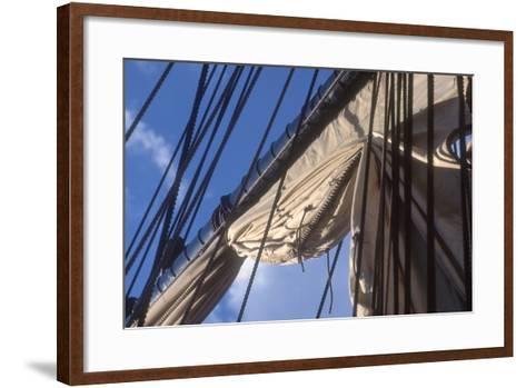 USS Constitution's Mainsail Detail, Boston--Framed Art Print