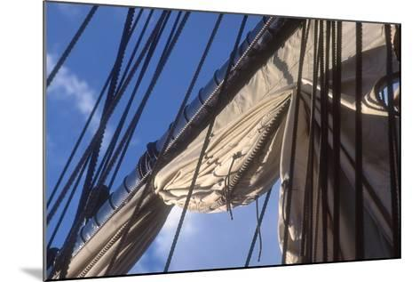 USS Constitution's Mainsail Detail, Boston--Mounted Photographic Print