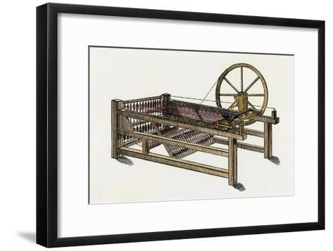 Hargreaves's Spinning-Jenny, Invented in the 1760s--Framed Art Print