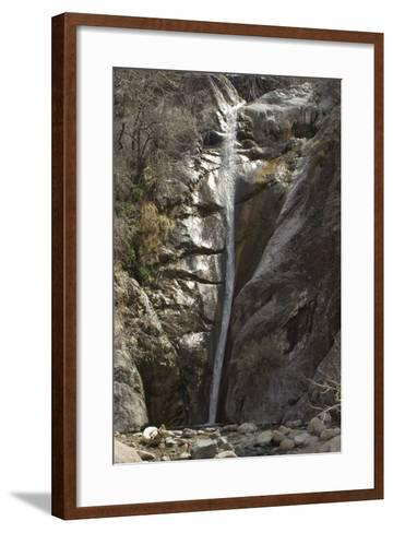 Waterfall in Fillmore Canyon of the Organ Mountains, Southern New Mexico--Framed Art Print